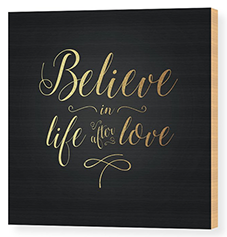 Cher – Believe Gold Foil Wood Print