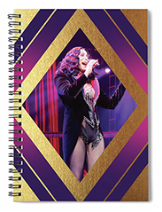 Burlesque Cher Diamond Spiral Notebook