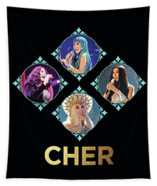 Cher – Blue Diamonds Tapestry