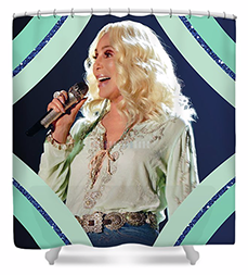 Cher – Teal Diamonds Shower Curtain