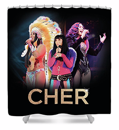Classic Cher Trio Shower Curtain