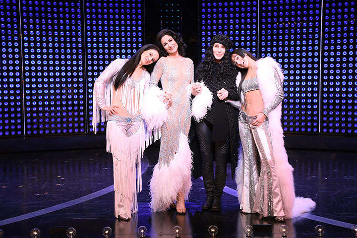 Cher with The Cher Show Actresses